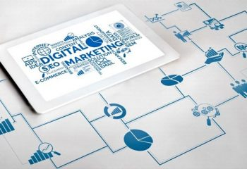 Marketing of Digital Technology Business Concept